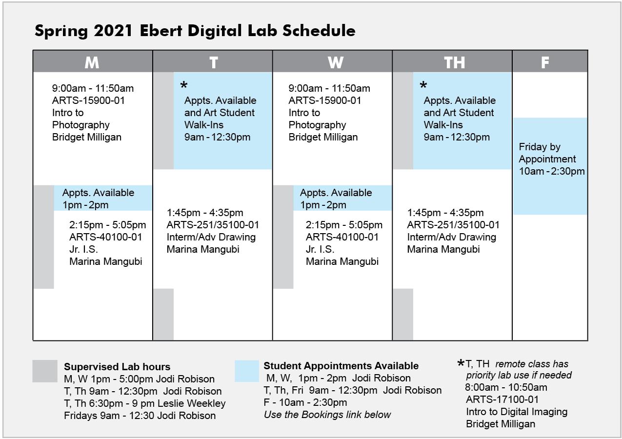 Lab Shedule 2021